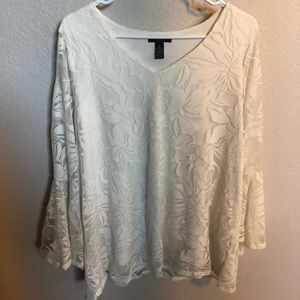 Alfani cream colored top